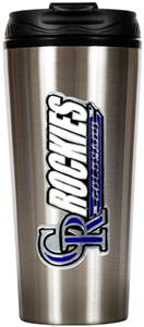 MLB Colorado Rockies 16oz Stainless Travel Tumbler