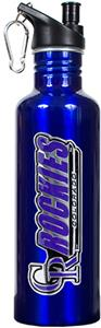 MLB Colorado Rockies Blue Stainless Water Bottle