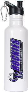 MLB Colorado Rockies White Stainless Water Bottle