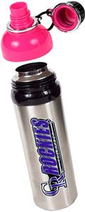 MLB Rockies Stainless Water Bottle w/Pink Top
