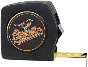 MLB Orioles 25' Tape Measure Crystal Coat Logo