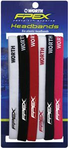"Worth FPEX Softball Fastpitch 3/8"" Headband 6 Pack"