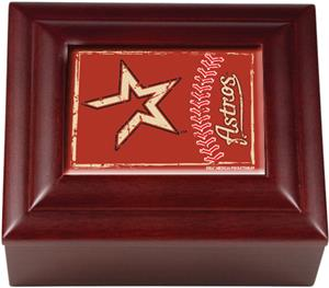 MLB Houston Astros Mahogany Keepsake Box