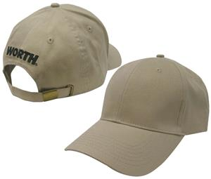 Worth Logo Adjustable Brushed Twill Baseball Caps