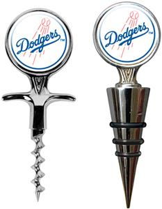 MLB Los Angeles Dodgers Cork Screw & Bottle Topper