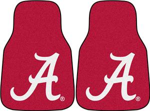 Fan Mats University of Alabama 'A' Carpet Car Mats