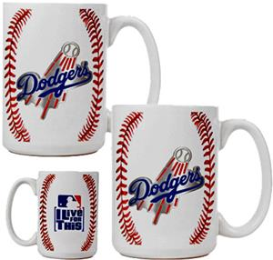 MLB Dodgers Ceramic Gameball Mug Set of 2