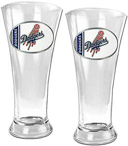 MLB Los Angeles Dodgers 2 Piece Pilsner Glass Set