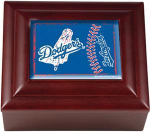 MLB Los Angeles Dodgers Mahogany Keepsake Box