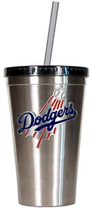 MLB Los Angeles Dodgers Stainless Tumbler w/Straw