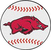 Fan Mats University of Arkansas Baseball Mat