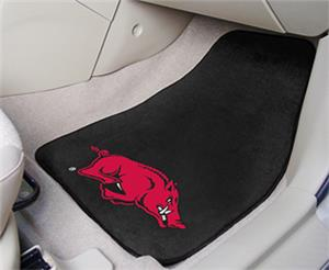 Fan Mats University of Arkansas Carpet Car Mats