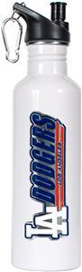 MLB Dodgers White Stainless Water Bottle