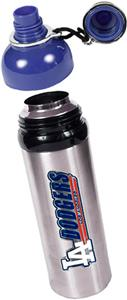 MLB Dodgers Stainless Water Bottle w/Blue Top
