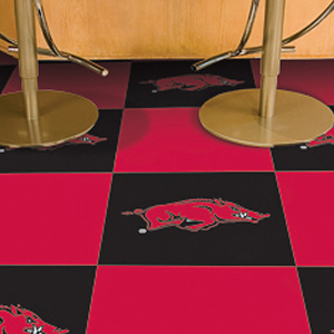 Fan Mats University of Arkansas Team Carpet Tiles