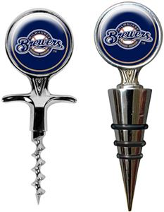 MLB Milwaukee Brewers Cork Screw & Bottle Topper