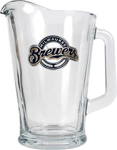 MLB Milwaukee Brewers 1/2 Gallon Glass Pitcher