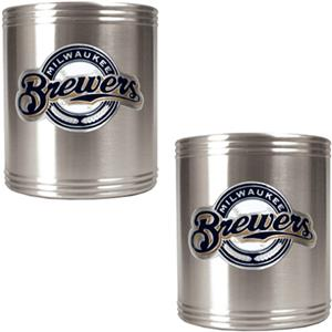 MLB Milwaukee Brewers Stainless Steel Can Holders