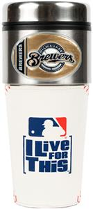 MLB Milwaukee Brewers Gameball Travel Tumbler