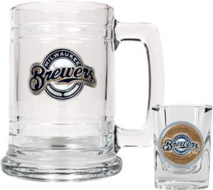 MLB Milwaukee Brewers Boilermaker Gift Set