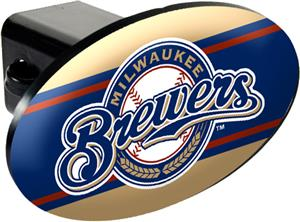 MLB Milwaukee Brewers Trailer Hitch Cover