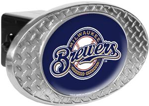 MLB Milwaukee Brewers Diamond Plate Hitch Cover