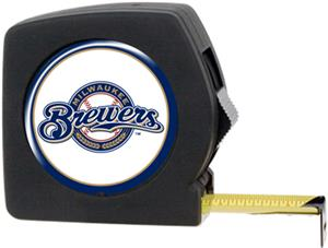 MLB Brewers 25' Tape Measure Crystal Coat Logo