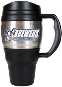 MLB Milwaukee Brewers Stainless 20oz Travel Mug