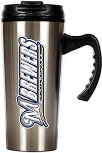 MLB Milwaukee Brewers Stainless Steel Travel Mug