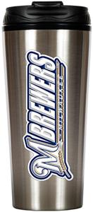 MLB Brewers 16oz Stainless Travel Tumbler