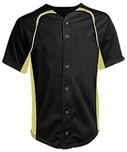 A4 Full Button Power Mesh Baseball Top