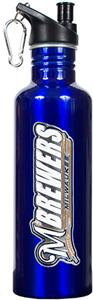 MLB Brewers Blue Stainless Water Bottle