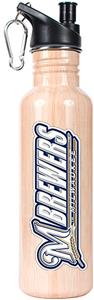 MLB Milwaukee Brewers Baseball Bat Water Bottle