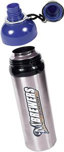 MLB Brewers Stainless Water Bottle w/Blue Top