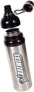 MLB Brewers Stainless Water Bottle w/Black Top