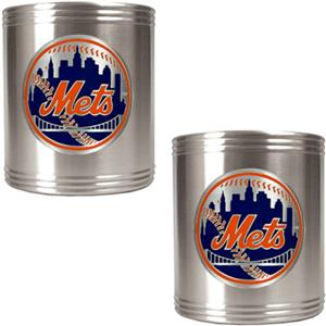 MLB New York Mets Stainless Steel Can Holders
