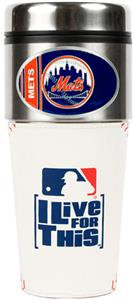 MLB New York Mets Gameball Travel Tumbler