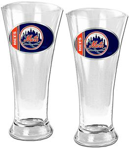 MLB New York Mets 2 Piece Pilsner Glass Set