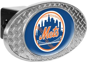 MLB New York Mets Diamond Plate Hitch Cover