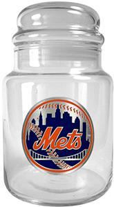 MLB New York Mets Glass Candy Jar