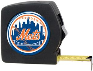 MLB Mets 25' Tape Measure Crystal Coat Logo