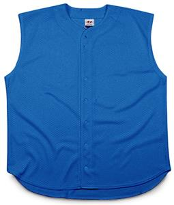 A4 Full Button Sleeveless Youth Baseball Jersey