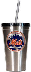 MLB New York Mets Stainless Tumbler w/Straw