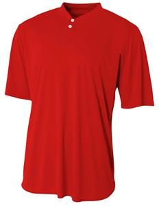 A4 Tek 2-Button Henley Youth Baseball Jerseys