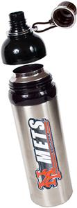 MLB Mets Stainless Water Bottle w/Black Top