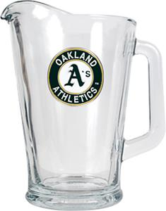 MLB Oakland Athletics 1/2 Gallon Glass Pitcher