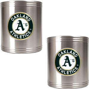 MLB Oakland Athletics Stainless Steel Can Holders