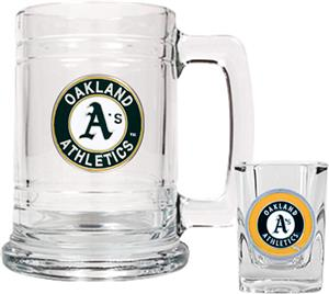 MLB Oakland Athletics Boilermaker Gift Set