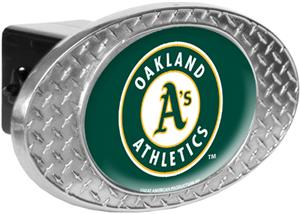 MLB Oakland Athletics Diamond Plate Hitch Cover