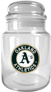 MLB Oakland Athletics Glass Candy Jar